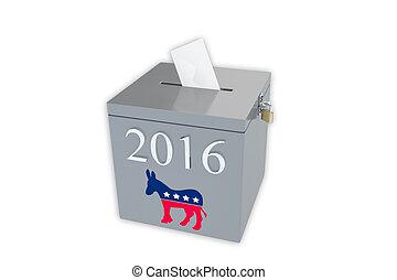 箱子, 2016, 選票, 主要, 民主