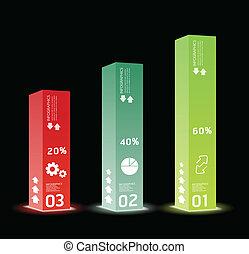 箱, ありなさい, スタイル, 現代, /, infographic, デザイン, 私達, テンプレート, 最小である, 缶