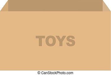 箱, おもちゃ, ベクトル