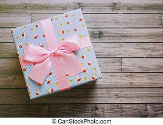 箱, かわいい, 贈り物, 効果, フィルター, レトロ