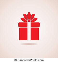 箱, アイコン, ベクトル, 贈り物