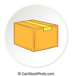箱, アイコン, 等大, スタイル