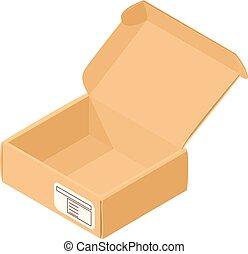 箱, アイコン, 等大, 貯蔵, スタイル