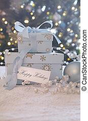 箱, カード, 贈り物