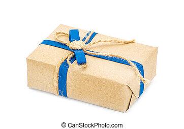 箱, ギフトの弓, リサイクルされる, ペーパー, 包まれた, リボン