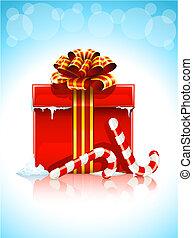 箱, クリスマスの ギフト, 赤