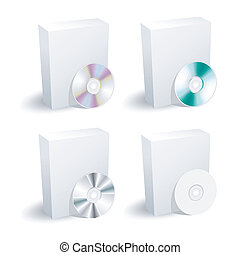 箱, コレクション, dvd, ブランク
