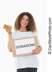 箱, ジャー, 混雑, 寄付, 保有物, ボランティア, 幸せ