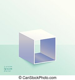 箱, スタジオ, 立ちなさい, 背景, 開いた, 3d