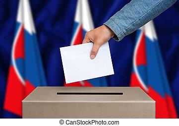 箱, -, スロバキア, 選挙, 投票, 投票