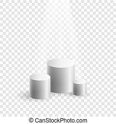 箱, デモンストレーション, 円筒状である