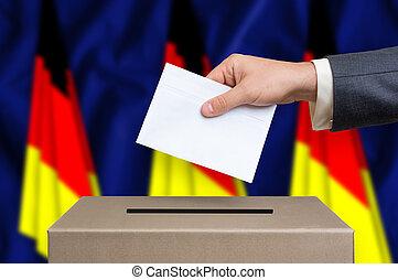 箱, -, ドイツ, 選挙, 投票, 投票