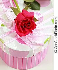 箱, バラ, プレゼント