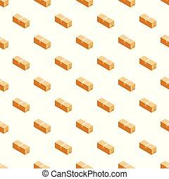 箱, パターン, カートン, seamless, ベクトル