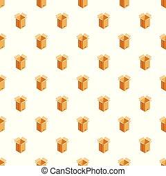 箱, パターン, ベクトル, 交通機関, seamless