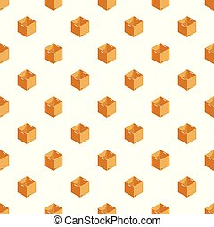 箱, パターン, ベクトル, 開いた, seamless