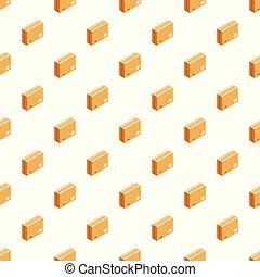 箱, パターン, ベクトル, seamless, 封をされた