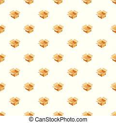 箱, パターン, ベクトル, seamless, 空