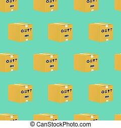 箱, パターン, ボール紙, seamless