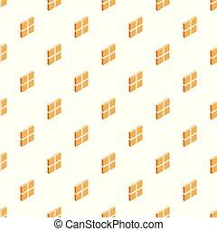 箱, パターン, 広場, seamless, ベクトル