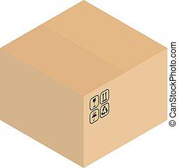 箱, パッキング, ボール紙, ベクトル