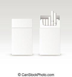 箱, パッケージ, タバコ, ベクトル, ブランク, パック