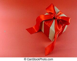 箱, ピンク, 贈り物, 隔離された, 弓, リサイクルされる, ペーパー, 背景, 包まれた, リボン