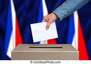 箱, -, フランス, 選挙, 投票, 投票