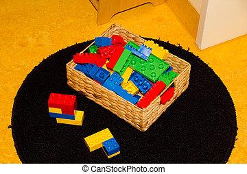箱, プレーしなさい,  Childrens, プラスチック, おもちゃ, 準備ができた, 部屋