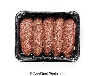 箱, プロダクト, 肉, 肉, 料理, パックされた