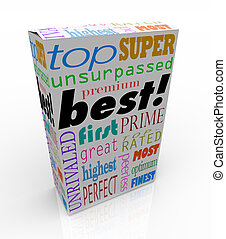 箱, プロダクト, 買い物, 優れた, 上, 言葉, 最も良く