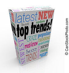 箱, プロダクト, newest, パッケージ, 上, 考え, 暑い, 傾向, 人気が高い, 最も遅く