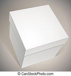 箱, ベクトル, あなたの, テンプレート, ブランク