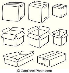 箱, ベクトル, セット