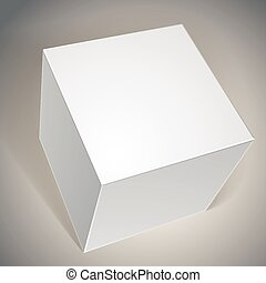 箱, ベクトル, テンプレート, ブランク
