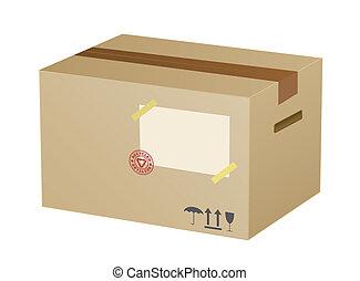 箱, ベクトル, ボール紙