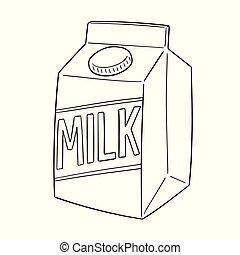 箱, ベクトル, ミルク