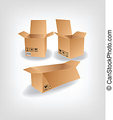 箱, ベクトル, 出荷