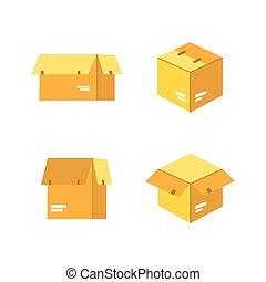 箱, ベクトル, 包装
