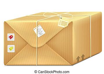 箱, ベクトル, 小包