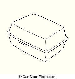 箱, ベクトル, 泡