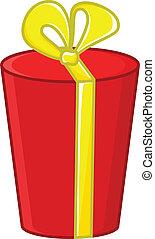 箱, ベクトル, 漫画, 贈り物