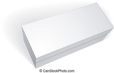 箱, ベクトル, 隔離された, 背景, テンプレート, ブランク, 白, あなたの
