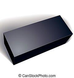 箱, ベクトル, 8., パッケージ, 上に, あなたの, 隔離された, イラスト, デザイン, パック, 背景, 黒, テンプレート, ブランク, 置かれた, 白, eps, イメージ