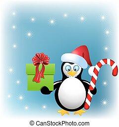 箱, ペンギン, キャンデー, 贈り物, クリスマス