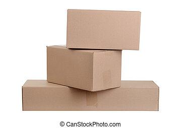 箱, ボール紙, 山, 隔離された