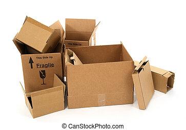 箱, ボール紙, 白い背景