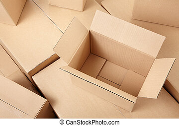 箱, ボール紙, 背景