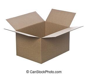 箱, ボール紙, 開いた
