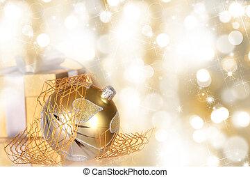 箱, ボール, クリスマスの ギフト